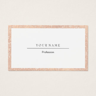 Elegant Professional Frame Peach Coral Crystal Business Card