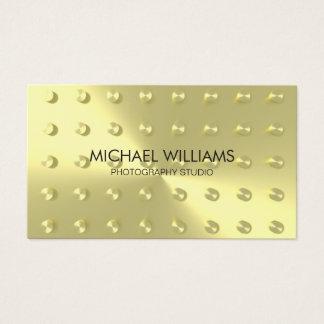 Elegant Professional Golden Metal Business Card