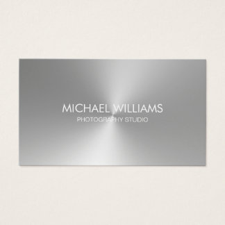 Elegant Professional Lawyer Silver Metal Business Card