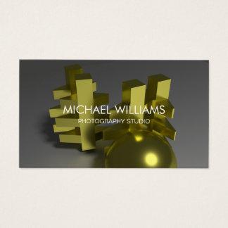Elegant Professional Metal Gold Decorator Business Card