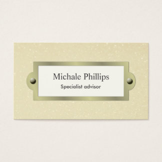 Elegant professional metal simple brightness mate business card