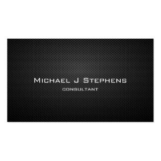Elegant Professional Modern Black Plain Simple Business Card