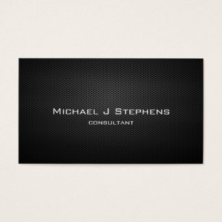 Elegant Professional Modern Black Plain Simple Business Card