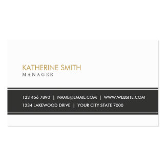 Elegant Professional Plain Simple Black and White Pack Of Standard Business Cards