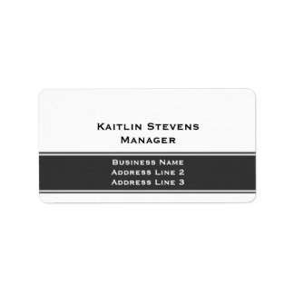 Elegant Professional Plain Simple Gray and White Label