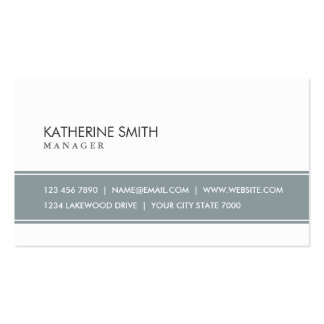 Elegant Professional Plain Simple Gray and White Pack Of Standard Business Cards
