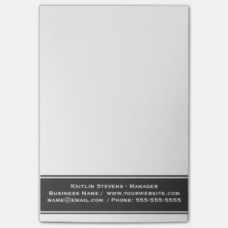 Elegant Professional Plain Simple Gray and White Post-it Notes