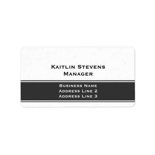 Elegant Professional Plain Simple Grey and White Label