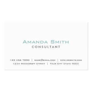 Elegant Professional Plain White Makeup Artist Pack Of Standard Business Cards
