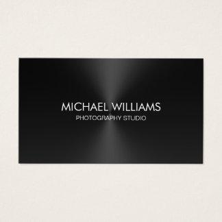 Elegant Professional Shining Black Lawyer Business Card