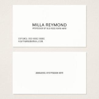 elegant professional white basic business card