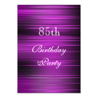 "Elegant Psychedelic Purple 85th Birthday 5"" X 7"" Invitation Card"