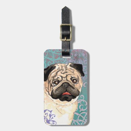 Elegant Pug Bag Tag