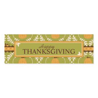 Elegant Pumpkin Damask Print for Thanksgiving Business Card Templates