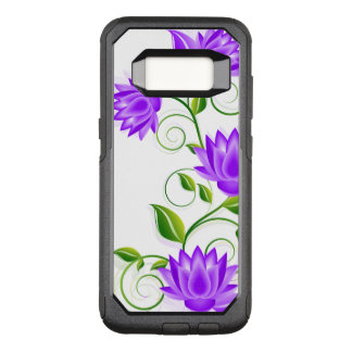 Elegant Purple Abstract Flowers Illustration OtterBox Commuter Samsung Galaxy S8 Case