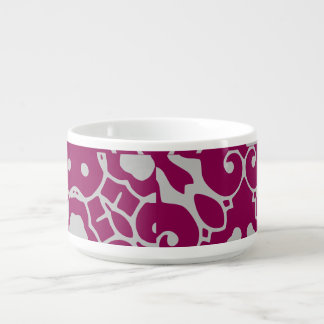 Elegant Purple Abstract for Karin Chili Bowl