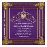 Elegant Purple and Gold Quinceanera