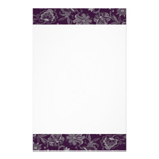 Elegant purple and grey stationery