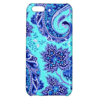 Elegant Purple and Turquoise Paisley Flowers iPhone 5C Cover