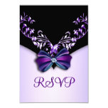 Elegant Purple Black Diamond Bow RSVP