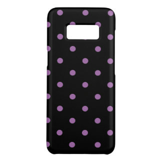 elegant purple black polka dots Case-Mate samsung galaxy s8 case