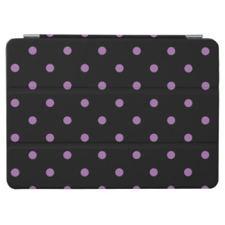 elegant purple black polka dots iPad air cover