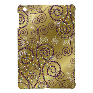 Elegant Purple Boho Deco Artistic Spiral iPad Case
