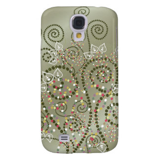 Elegant Purple Boho Deco Artistic Spirals Casing Samsung Galaxy S4 Case
