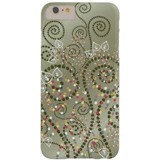 Elegant Purple Boho Deco Artistic Spirals Casing Barely There iPhone 6 Plus Case