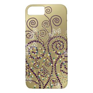 Elegant Purple Boho Deco Artistic Spirals Casing iPhone 7 Case