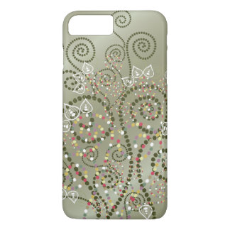 Elegant Purple Boho Deco Artistic Spirals Casing iPhone 7 Plus Case