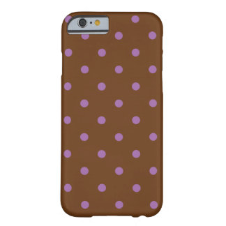elegant purple brown polka dots barely there iPhone 6 case