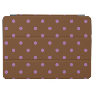 elegant purple brown polka dots iPad air cover