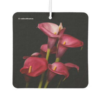 Elegant Purple Calla Lilies Car Air Freshener