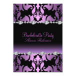 Elegant Purple Damask Bachelorette Invite