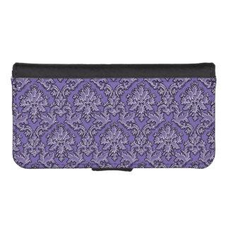 Elegant Purple Damask Wallet Phone Case