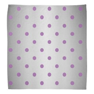 elegant purple faux silver polka dots bandana