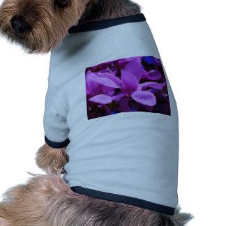 Elegant Purple Floral Fields Doggie T-shirt