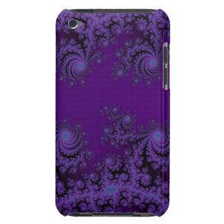Elegant Purple Fractal Lace Skins Barely There iPod Cases