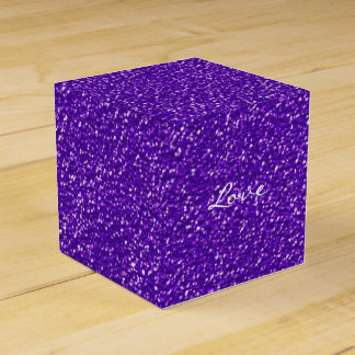 Elegant Purple Glitter Look Texture Favor Box