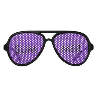 Elegant Purple Glitter Look Texture Party Sunglasses