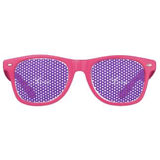 Elegant Purple Glitter Look Texture Retro Sunglasses