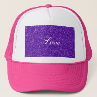 Elegant Purple Glitter Look Texture Trucker Hat