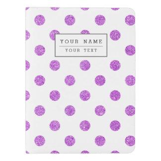 Elegant Purple Glitter Polka Dots Pattern Extra Large Moleskine Notebook