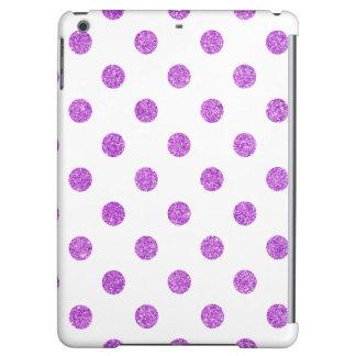 Elegant Purple Glitter Polka Dots Pattern iPad Air Case