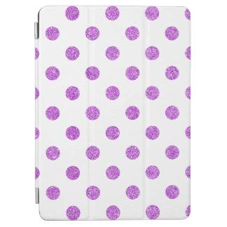 Elegant Purple Glitter Polka Dots Pattern iPad Air Cover