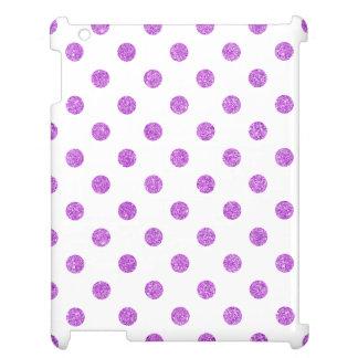Elegant Purple Glitter Polka Dots Pattern iPad Cases