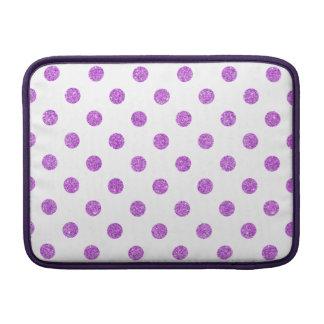 Elegant Purple Glitter Polka Dots Pattern Sleeves For MacBook Air