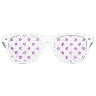 Elegant Purple Glitter Polka Dots Pattern Sunglasses