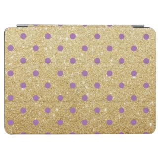 elegant purple gold glitter polka dots iPad air cover